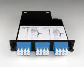 Momentum 2 Cassette, single-mode fiber, 1U, 24 fibers, LC quad connectors