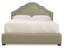 Queen-Sized Madison Crown Top Bed in Espresso