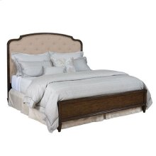 Grantham Hall Upholstered Cal King Panel Bed Complete