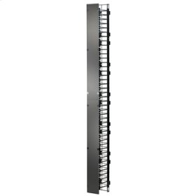 """MM20 Vertical Manager with Cover, 3.75""""W x 8.62""""D for 8' MM20 racks"""