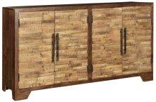 Bengal Manor Mango Wood Random Strips Sideboard
