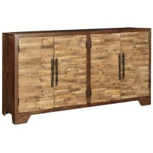 Bengal Manor Mango Wood Random Strips Sideboard