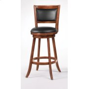 Transitional Chestnut Swivel Bar Stool Product Image
