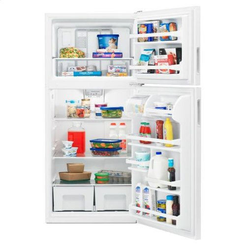 30-inch Wide Top-Freezer Refrigerator with Gallon Door Storage Bins - 18 cu. ft. - white