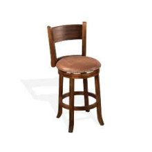 "24""H Santa Fe Swivel Barstool w/ Cushion Seat"
