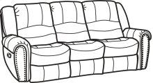 Crosstown Leather Reclining Sofa