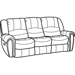 FLEXSTEELHOMECrosstown Leather Reclining Sofa