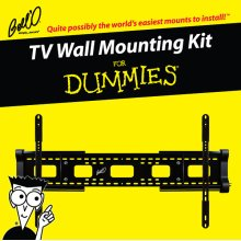 """Low profile expandable fixed or 5 degree tilting mount for most* 32 - 84"""" TVs including For Dummies installation guide and For Dummies step-by-step DVD video."""