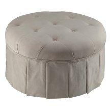 Cottage Pleated Ottoman