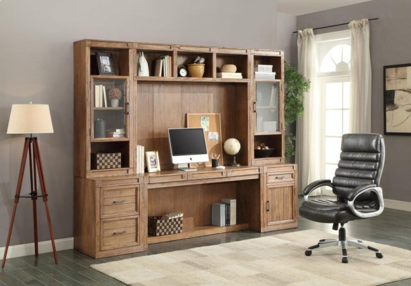 63 In Wall Desk With Power Center
