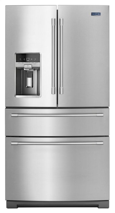 36-Inch Wide 4-Door French Door Refrigerator with Steel Shelves - 26 Cu. Ft. Product Image