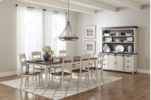 Madison County Ext Table With 4 Chairs - Vintage White