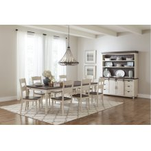 Madison County Dining Room Set: Extension Table & 6 Chairs, Vintage White