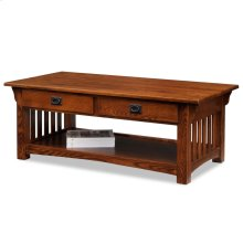 Mission Two Drawer Coffee Table #8204