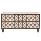 Antiqued Multi-faceted Mirrored Cabinet Product Image