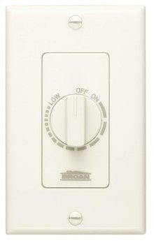 Variable Speed Wall Control in Ivory; Ventilation Fans