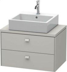Brioso Vanity Unit For Console Compact, Concrete Grey Matt Decor