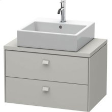 Brioso Vanity Unit For Console Compact, Concrete Gray Matt Decor