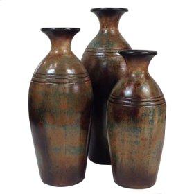 Bottle w/ rim (Set of 3)