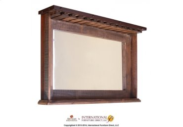 Mirror bar w/cup holders & shelf