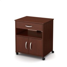 Microwave Cart on Wheels - Royal Cherry