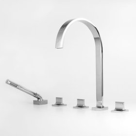 1600 Series Roman Tub Set with Diverter Handshower with Nuance Handle (available as trim only P/N: 1.163893T)