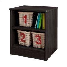 Nightstand with Open Storage - Gray Oak