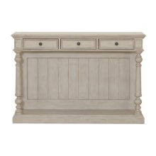 Three Drawer Farmhouse Console Table in Prairie Beige