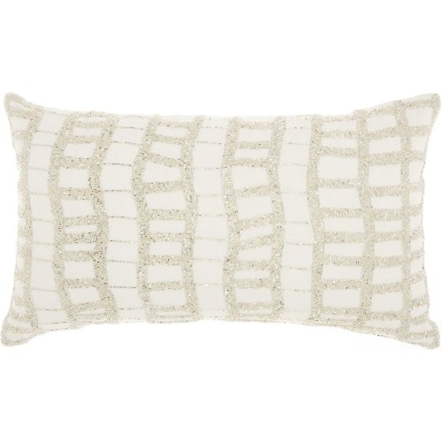 "Luminescence E5570 Silver 12"" X 20"" Throw Pillows"