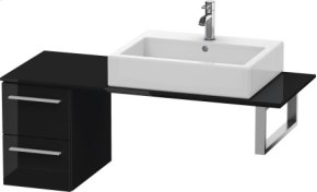 Low Cabinet For Console, Black High Gloss Lacquer