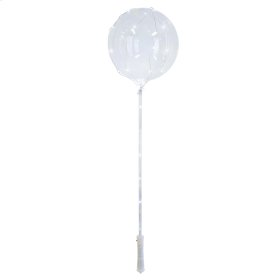 Balloon w/ White LED String Lights with Stick and Handle (12 pc. ppk.)