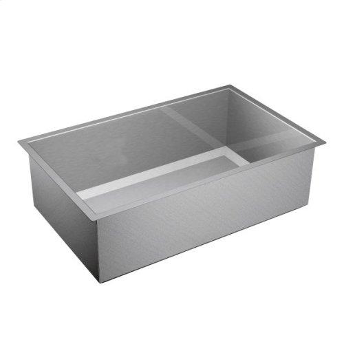"""1600 Series 32""""x20"""" stainless steel 16 gauge single bowl sink"""
