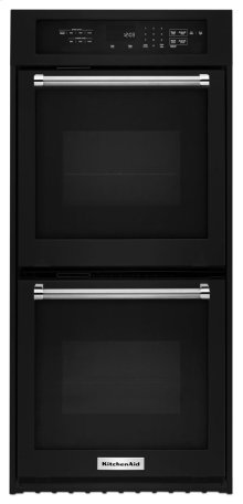 "24"" Double Wall Oven with True Convection - Black"