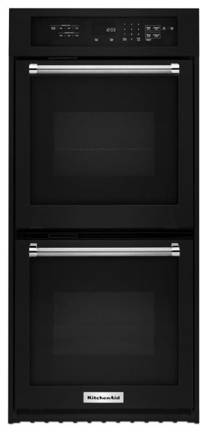 "24"" Double Wall Oven with True Convection - Black Product Image"
