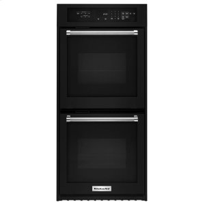 "Kitchenaid24"" Double Wall Oven with True Convection - Black"