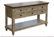 6 Drawer Sofa Table