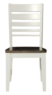 Ladder Back Chair Taupe & Pewter