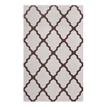 Marja Moroccan Trellis 8x10 Area Rug in Brown and Gray