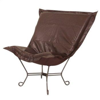 Scroll Puff Chair Avanti Pecan Titanium Frame Product Image