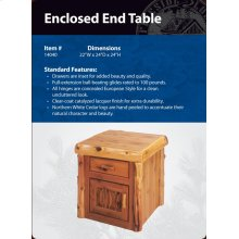 Enclosed End Table- Traditional