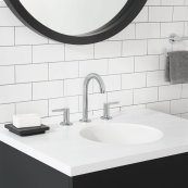 Studio S Widespread Faucet with Lever Handles  American Standard - Polished Chrome