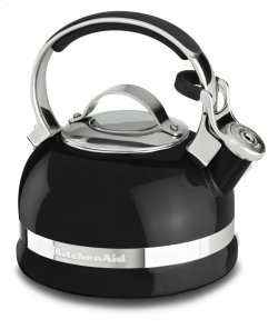 2.0-Quart Kettle with Full Stainless Steel Handle and Trim Band - Onyx Black