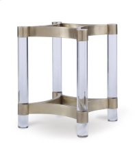 Acrylic & Metal Dining Table Base for Wood Tops Product Image