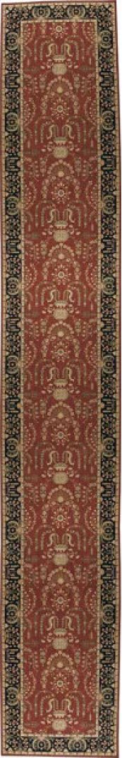 HARD TO FIND SIZES GRAND PARTERRE PT02 RUST RECTANGLE RUG 5' x 32'