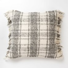 Alena Pillow - Grey and Ivory