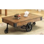 Rustic Brown Wagon Coffee Table Product Image