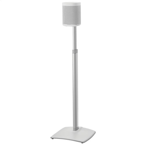 White Adjustable Height Wireless Speaker Stands designed for SONOS ONE, Play:1, and Play:3