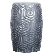 Daze Ceramic Garden Stool, Gray Product Image