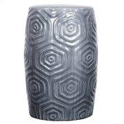 Daze Ceramic Garden Stool, Gray Product Image