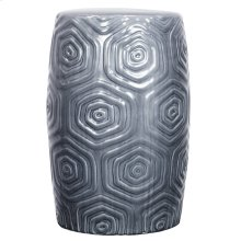 Daze Ceramic Garden Stool, Gray